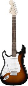 Squier by Fender Electric Guitar Affinity Series Stratocaster Left H&ed - Brown Sunburst
