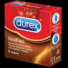 Durex Real Feel Condoms 3's