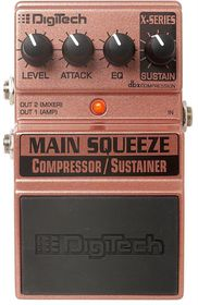 DigiTech XMS Main Squeeze Compressor-Sustainer Guitar Effects Pedal
