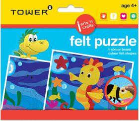 Tower Kids Felt Puzzle - Seahorse