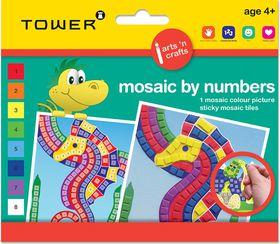 Tower Kids Mosaic by Numbers - Seahorse