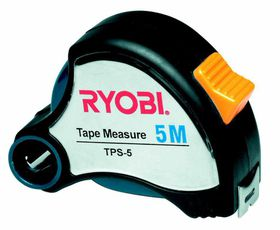 Ryobi - Tape Measure 5M X 25Mm Blade Steel Casing and Pencil Sharpener