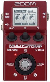 Zoom MS-60B Multi-Stomp Single Mult-Effects Pedal For Bass Guitar