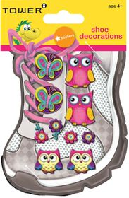 Tower Kids Shoe Decorations - Funky Owls 1