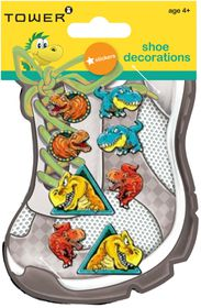 Tower Kids Shoe Decorations - Dinosaurs 1