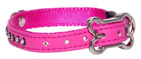 Rogz Lapz 8mm Extra Small Luna Pin Buckle Dog Collar - Pink