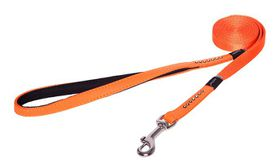 Rogz Lapz 13mm Small Luna Fixed Long Dog Lead - Orange