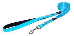 Rogz Lapz 16mm Medium Luna Fixed Long Dog Lead - Blue