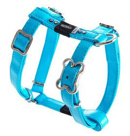 Rogz Lapz 13mm Small Luna Adjustable Dog H-Harness - Blue