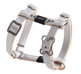 Rogz Lapz 13mm Small Luna Adjustable Dog H-Harness - Ivory