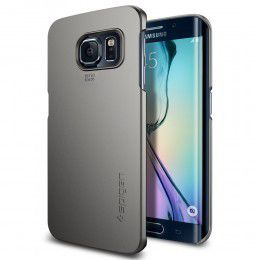 Spigen Case Thin Fit for Samsung S6 Edge - Gunmetal