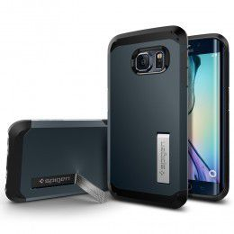 Spigen Case Tough Armor for Samsung S6 Edge - Metal Slate