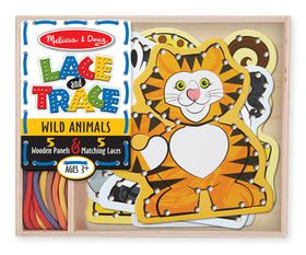 Melissa & Doug Wild Animals Lace and Trace