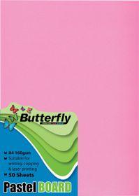 Butterfly A4 Pastel Board 50s - Pink