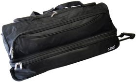 Voss 2 Wheeler Double Decker Trolley Duffel 76cm - Black