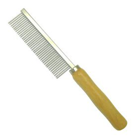 Mcpets Fine Metal Comb With Wooden Handle