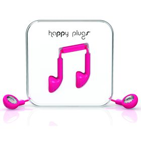 Happy Plugs Earbud + Mic & Remote - Cerise