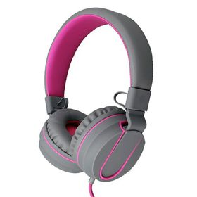 Polaroid Foldable Stereo Headphone with Inline Mic - Pink