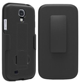 PureGear Samsung S4 Case with Kickstand And Holster - Black
