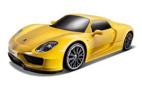 Maisto 1/14 Remote Control Porsche 918 Spyder with Alkalines - Yellow