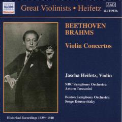 Toscanini/Beethoven&Brahms - Violin Concertos Heifetz (CD)