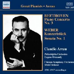 Arrau : Beethoven /weber - Piano Concerto No.3 / Konzertstuck (CD)