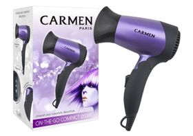 Carmen On-The-Go Compact 1200 Hairdryer