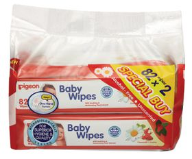 Pigeon - Baby Wipes With Chamomile pack of 82 x 2 Refill Pack