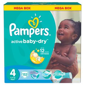 Pampers - Active Baby Maxi Nappies - Size 4