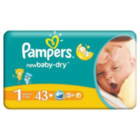 Pampers - New Baby Nappies - Size 1 - Value Pack (43 count)