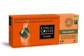 Ethical Coffee Company - Inca Soave Coffee Capsules - Sleeve of 10