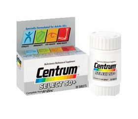 Centrum Select 50 Plus 30 Wyeth 30 tablets