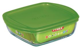 Pyrex - Storage Cook & Store Square Dish with Lid - 1 Litre
