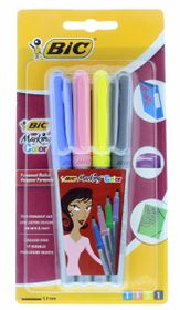 BIC Marking Permanent Marker - Assorted (Blister of 4)