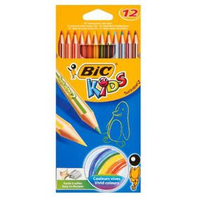 BIC Kids Tropicolors 12 Pencil Crayons