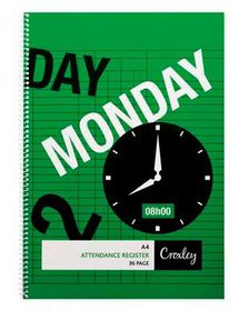 Croxley JD284 A4 36 Page Attendance Register