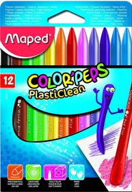 Maped Color'Peps 12 PlastiClean Crayons