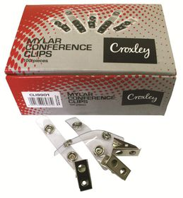 Croxley Mylar Conference Clips - Pack Of 100