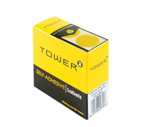 Tower C25 Colour Code Labels - Yellow