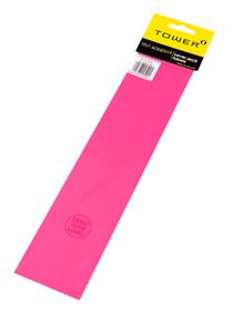 Tower Lever Arch Labels - Fluorescent Pink (Pack of 12)
