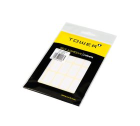 Tower White Sheet Labels - S1622