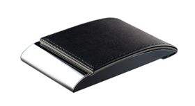 Tower Business Card Holder Bottom Opening - Black