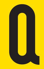 Tower Adhesive Letter Sign - Small Q