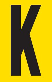 Tower Adhesive Letter Sign - Large K