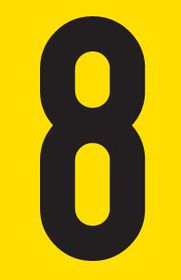 Tower Adhesive Number Sign - Large 8