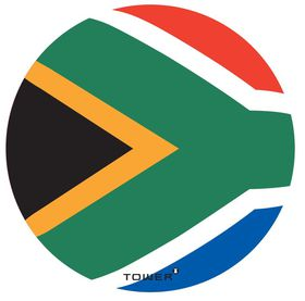 Tower Magnetic License Disc Holder - SA Flag