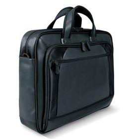 Port Design DUBAI 15.6 Inch Twill & Leather Laptop Bag - Black