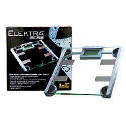 Elektra Body Fat or Hydration Monitor Scale - Clear