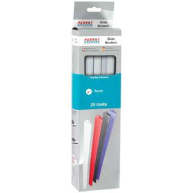 Parrot Slide Binders A4 5mm - White (Pack of 25)