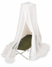 LeisureQuip - Single Impregnated Mosquito Net - White